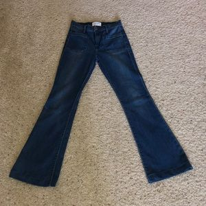 Frame denim high waisted bell bottoms